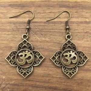 Bronze OM earrings